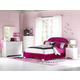 Standard Furniture Marilyn Tufted Headboard Bedroom Set in Pink w/ Two Pillows