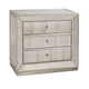 Bassett Mirror Murano Mirrored Three-Drawer Chairside Chest