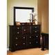 Fairfax Home Furnishings Council Landscape Mirror in Espresso - 2065-02
