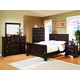 Fairfax Home Furnishings Council 4-piece Panel Bedroom Set in Espresso - 2065