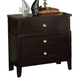 Fairfax Home Furnishings Newton Three Drawer Nightstand in Espresso - 2460-01