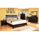 Fairfax Home Furnishings Newton 4-piece Platform Bedroom Set in Espresso - 2460