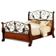 Fairfax Home Furnishings Tuscany Queen Sleigh Bed in Rich Brown