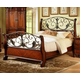 Fairfax Home Furnishings Tuscany Cal King Sleigh Bed in Rich Brown