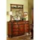 Fairfax Home Furnishings Tuscany Nine Drawer Dresser in Rich Brown - 3290-10