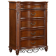 Fairfax Home Furnishings Tuscany Drawer Chest in Rich Brown - 3290-07