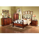 Fairfax Home Furnishings Tuscany 4-piece Sleigh Bedroom Set in Rich Brown - 3290