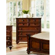 Fairfax Home Furnishings Compass Rose Seven Drawer Chest in Rich Brown - 9500-07