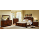 Fairfax Home Furnishings Compass Rose 4-piece Poster Bedroom Set in Rich Brown - 9500