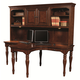 Aspenhome E2 Class Villager Dual T-Desk and Hutch in Warm Cherry I20-380DH