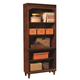 Aspenhome E2 Class Villager Open Bookcase in Warm Cherry I20-333