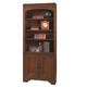 Aspenhome Richmond Door Bookcase in Charleston Brown I40-332