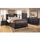 Kira Storage Panel Bedroom Set in Black
