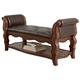 Ledelle Upholstered Bench in Brown B705-09