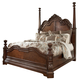 Ledelle Queen Poster Bed With Tall Headboard Posts in Brown