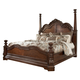 Ledelle California King Poster Bed with Tall Headboard Posts in Brown