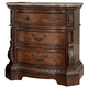 Ledelle Three Drawer Night Stand in Brown B705-93