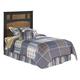 Aimwell Twin Panel Headboard Bed in Dark Brown