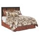 Aimwell Queen/Full Panel Headboard Bed in Dark Brown
