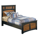 Aimwell Twin Panel Bed in Dark Brown