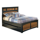 Aimwell Full Planel Bed with Trundle Under Bed Storage in Dark Brown