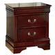 Alisdair Two Drawer Night Stand in Dark Brown B376-92