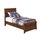 Delburne Twin Panel Bed in Medium Brown