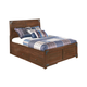Delburne Full Platform Storage Bed with Roll Slat in Medium Brown
