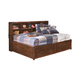 Delburne Full Storage Bed with Bookcase Studio Headboard in Medium Brown