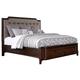 Larimer King Upholstered Storage Bed in Dark Brown