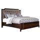 Larimer Queen Upholstered Storage Bed in Dark Brown