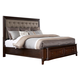 Larimer Queen Upholstered Panel Storage Bed in Dark Brown
