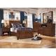 Delburne Panel Bedroom Set in Medium Brown
