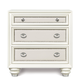Magnussen Furniture Diamond 3-Drawer Nightstand in Pearlized White B2344-01