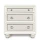 Magnussen Furniture Diamond 3-Drawer Nightstand in Pearlized White B2344-01