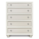 Magnussen Furniture Diamond 5-Drawer Chest in Pearlized White B2344-10