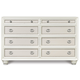 Magnussen Furniture Diamond 8-Drawer Dresser in Pearlized White B2344-20