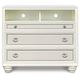 Magnussen Furniture Diamond 3-Drawer Media Chest in Pearlized White B2344-36