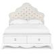 Magnussen Furniture Gabrielle Full Island Storage Bed in Snow White Y2194-60HR-61F