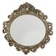 American Drew Jessica McClintock Boutique Oval Decorative Mirror in Silver Veil 217-040