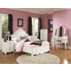 Magnussen Furniture Gabrielle Island Bedroom Set in Snow White