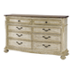 American Drew Jessica McClintock Boutique 8-Drawer Dresser in White Veil 217-130W
