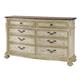 American Drew Jessica McClintock Boutique 8-Drawer Dresser in White Veil 217-130W CODE:UNIV20 for 20% Off