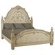 American Drew Jessica McClintock Boutique King Mansion Bed in White Veil
