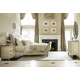 American Drew Jessica McClintock Boutique Sleigh Bedroom Set w/Bachelor Chest in White Veil