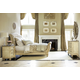 American Drew Jessica McClintock Boutique Sleigh Bedroom Set w/Tiered Accent Table in White Veil