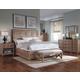 A.R.T. Ventura Platform Sleigh Bedroom Set in Medium Oak