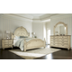 American Drew Jessica McClintock Boutique Mansion Bedroom Set in White Veil