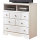 Weeki Media Chest in White
