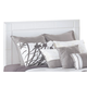 Weeki Queen/Full Panel Headboard Only in White